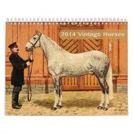 2014 Vintage Horses Calendar
