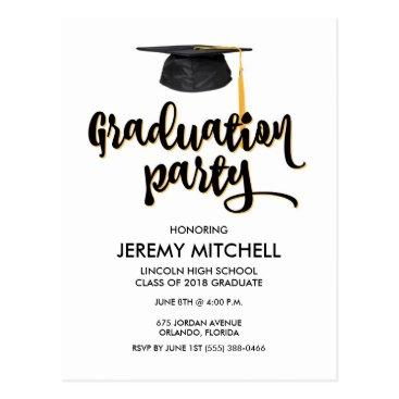2018 Budget Graduation Party Postcard Invitations