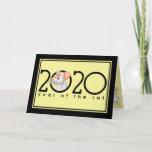 2020 Chinese New Year Cartoon White Rat Holiday Card
