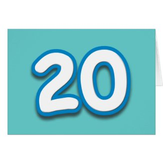 20 Year Birthday or Anniversary - Add Text Cards