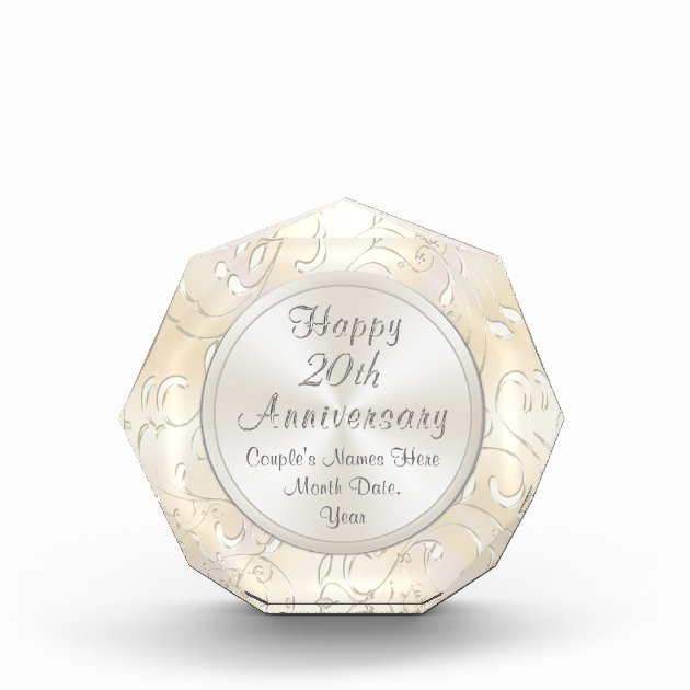 20th Wedding Anniversary Gift For Wife Personalize