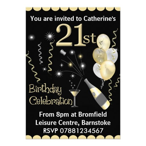 Happy Birthday Invitation Card Design