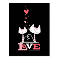 2 Cats in Love | Valentine Themed Postcards