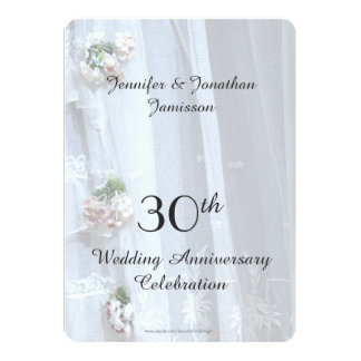 30th Wedding Anniversary Party Vintage Lace Card