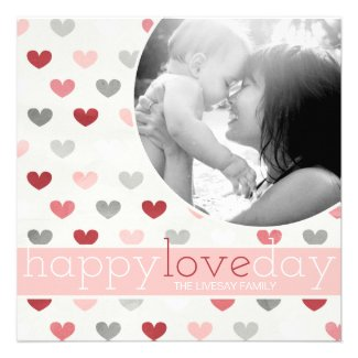 311 Happy Love Day Photo Valentine Personalized Announcements