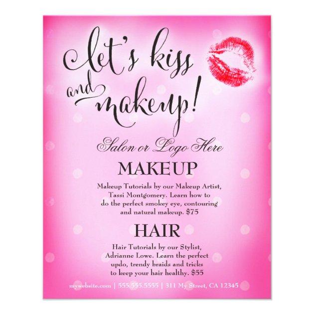 311 Makeup Artist Lets Kiss And Makeup Flyer