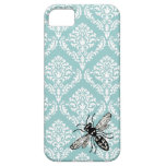 ❤️  311 Vintage Blue Damask Bee Hornet iPhone Cover (also comes in yellow)