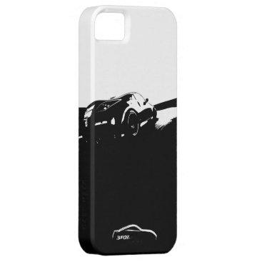 350Z Rolling Shot with White Brushstroke logo iPhone SE/5/5s Case