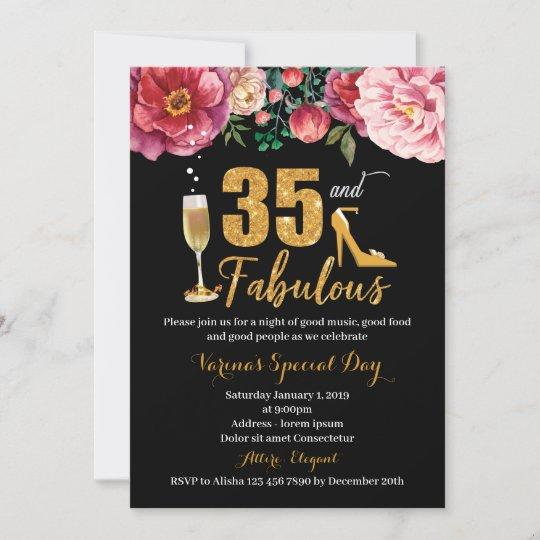 35th birthday invitation for women zazzle com
