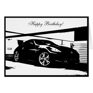370Z car themed Birthday Card