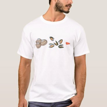 3 CLAMS 5 MUSSELS AND A TINY CHUNK OF FISH T-Shirt