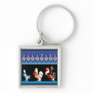 3 Delaware Chickens Key Chains
