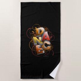 3D Dance (Fall) Beach Towel