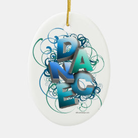 3D Dance (Spring) Ceramic Ornament