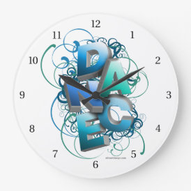 3D Dance (spring) Large Clock
