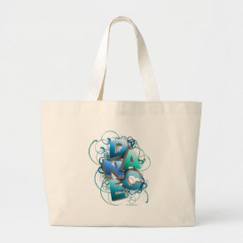 3D Dance (Spring) Large Tote Bag