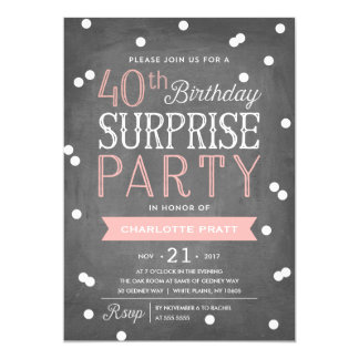 Surprise 40th Birthday Party Invitation Wording Cimvitation