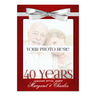 Stafford Ruby 40th Wedding Anniversary Invitation Set
