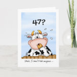 47? I Won't Tell Funny Cow Birthday Card (also available in lots of other years)