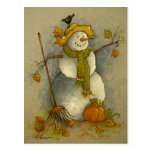 4878 Harvest Snowman Postcard