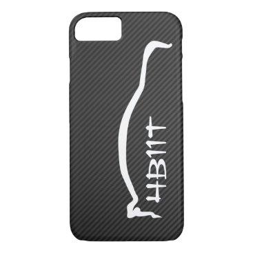 """4B11T"" Mitsubishi Evolution X White Silhouette iPhone 8/7 Case"