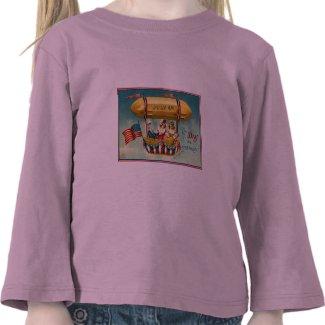 4th of July - Airship Vintage Art Shirt shirt