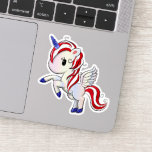 ❤️ 4th of July American Unicorn Pegasus Rainbow Sticker