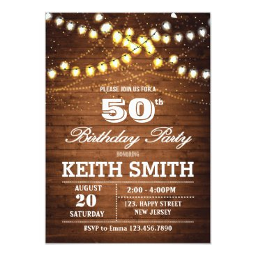 50th Birthday Invitation - Any Age