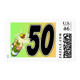 50th birthday party merchandise postage