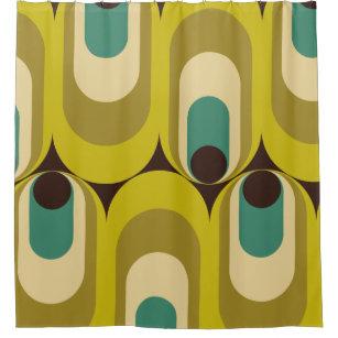 retro 70s shower curtains zazzle