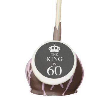 60th Birthday King Cake Pops