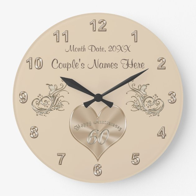 60th Wedding Anniversary Gift Couple's NAMES, DATE Large