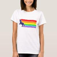'80s Vintage Unicorn Rainbow (distressed look) T-Shirt