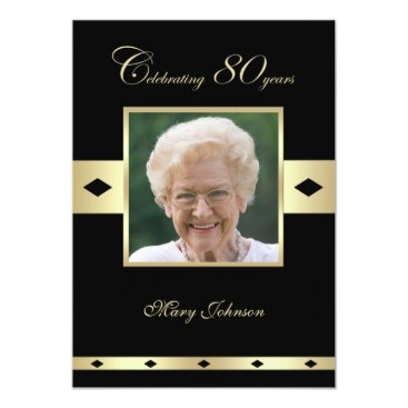 80th Birthday Party Invitation Photo 80th