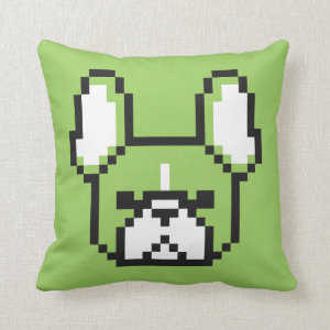 8-bit Frenchie Pillow