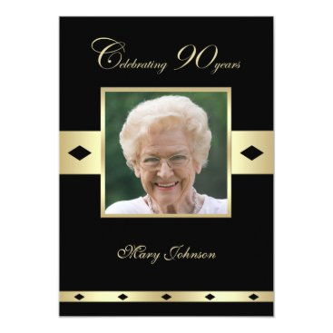 90th Birthday Party Invitation Photo 90th