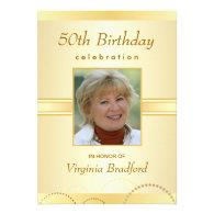 90th Birthday Party Invitation - Photo or Monogram Custom Invitations