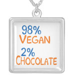 98 Percent Vegan Silver Plated Necklace