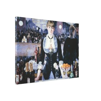 A Bar at the Folies-Bergère - Edouard Manet Gallery Wrap Canvas