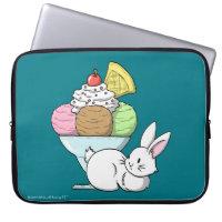 A bunny and an ice cream laptop sleeve