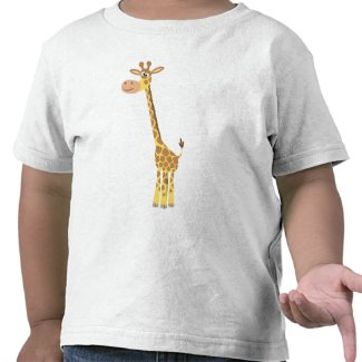 A cartoon giraffe Children T-shirt shirt