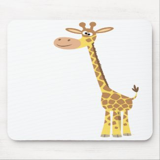 A cartoon giraffe mousepad mousepad