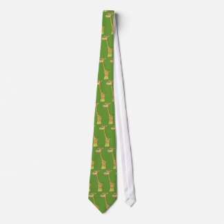 A cartoon giraffe Tie tie