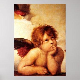 A Cherub, Detail of the Sistine Madonna - Raphael Poster