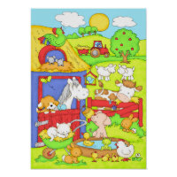 A Day at the Farm Poster