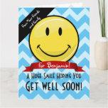 A Huge Smile Get Well Soon Custom (Big Card)