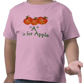 A is for Apple Learn to Spell Toddler T-Shirt shirt