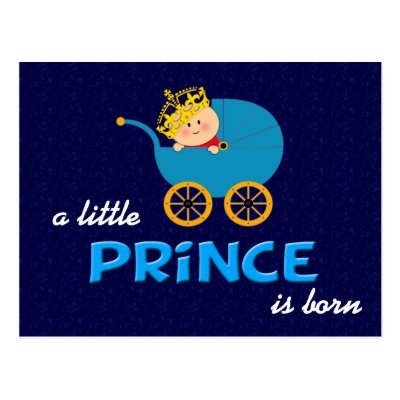 Prince is Born Post card