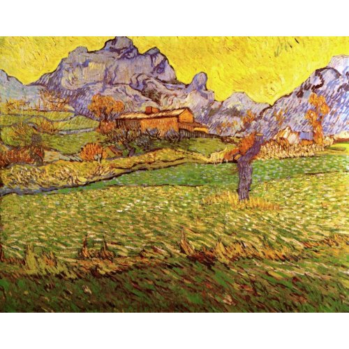 A Meadow in the Mountains, Vincent van Gogh print