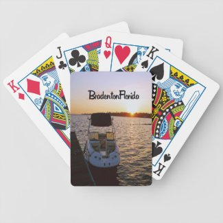 A sunrise over the Manatee River Bicycle Poker Deck